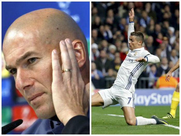 Técnico do time, Zinedine Zidane