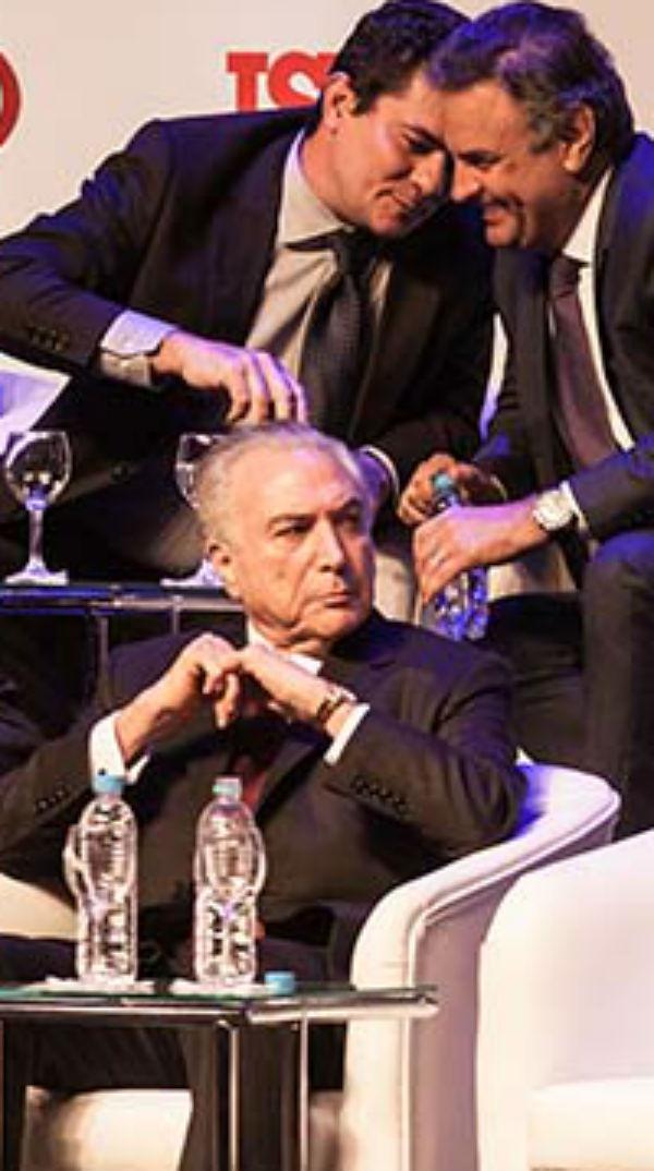 Juiz Sérgio Moro com o senador Aécio Neves