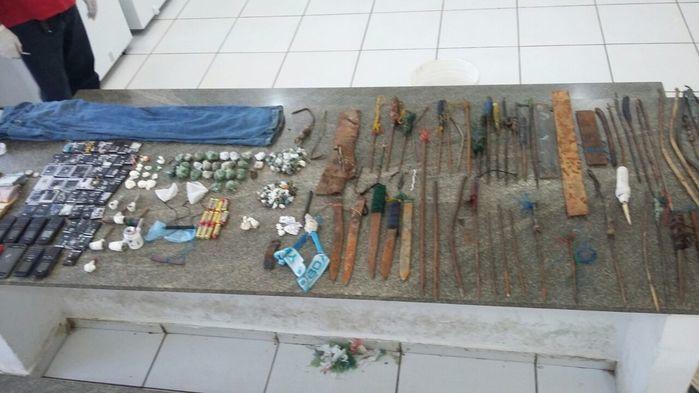 Material encontrado durante vistoria na Casa de Custódia de Teresina (Crédito: Divulgação)