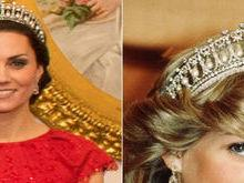 Kate Middleton usa tiara de diamante favorita da princesa Diana