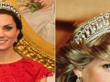 Kate Middleton usa tiara de diamante favorita da princesa Diana