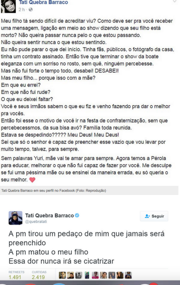 Post de Tati Quebra Barraco