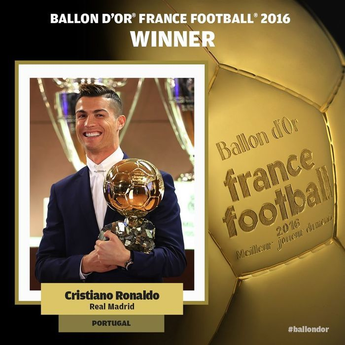 Cristiano Ronaldo confirma favoritismo e leva 4ª Bola de Ouro da carreira