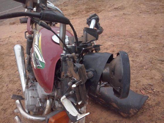 Acidente de moto em Cajazeiras do Piauí (Crédito: redes sociais)
