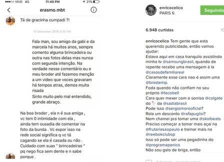 Noivo de Pugliesi ameaça irmão de Carol Celico em rede social