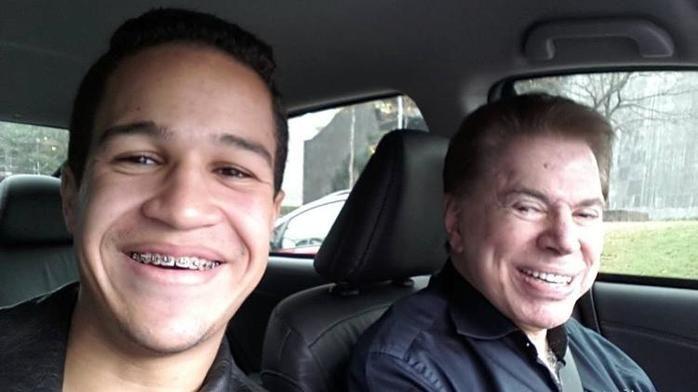 Silvio Santos dá carona em seu carro ao fã Wesley Oliveira (Crédito: Arquivo Pessoal)
