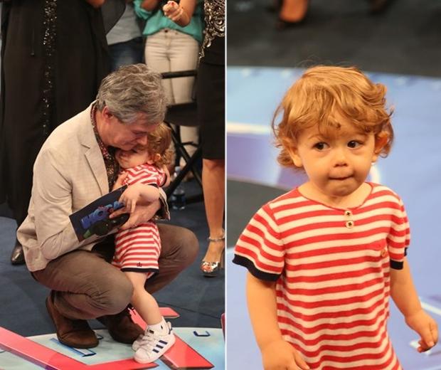 Serginho Groisman se emociona com visita do filho em gravação