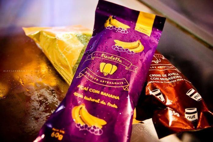 Picolés com sabores únicos são encontrados na feira (Crédito: Alessandra Mota)