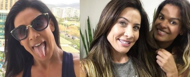 Scheila Carvalho muda o visual e adota fios louros com mega hair