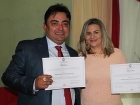 Márcio Alencar e Hermilinda Gomes são diplomados prefeito e vice