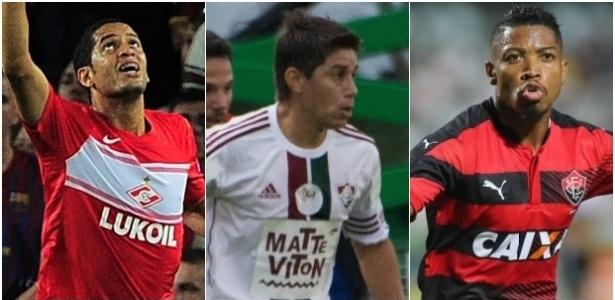 Romulo, Conca e Marinho estão próximos do Flamengo para a temporada 2017 (Crédito: Reprodução)
