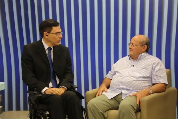 Ex-prefeito Silvio Mendes no Agora (Crédito: Efrém Ribeiro)