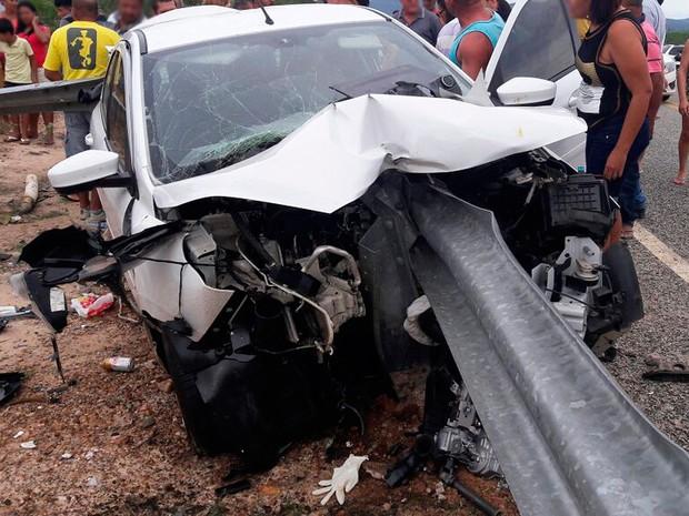 Acidente na BR-235 em Remanso, na Bahia (Crédito: Reprodução)