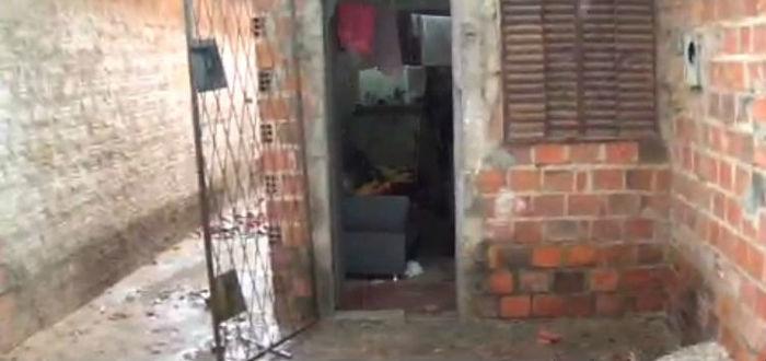 Residência onde ocorreu o crime (Crédito: Rede Meio Norte)