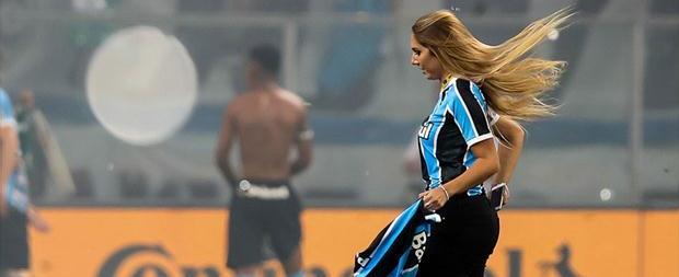 Grêmio é multado em R$ 50 mil por invasão de Carol Portaluppi