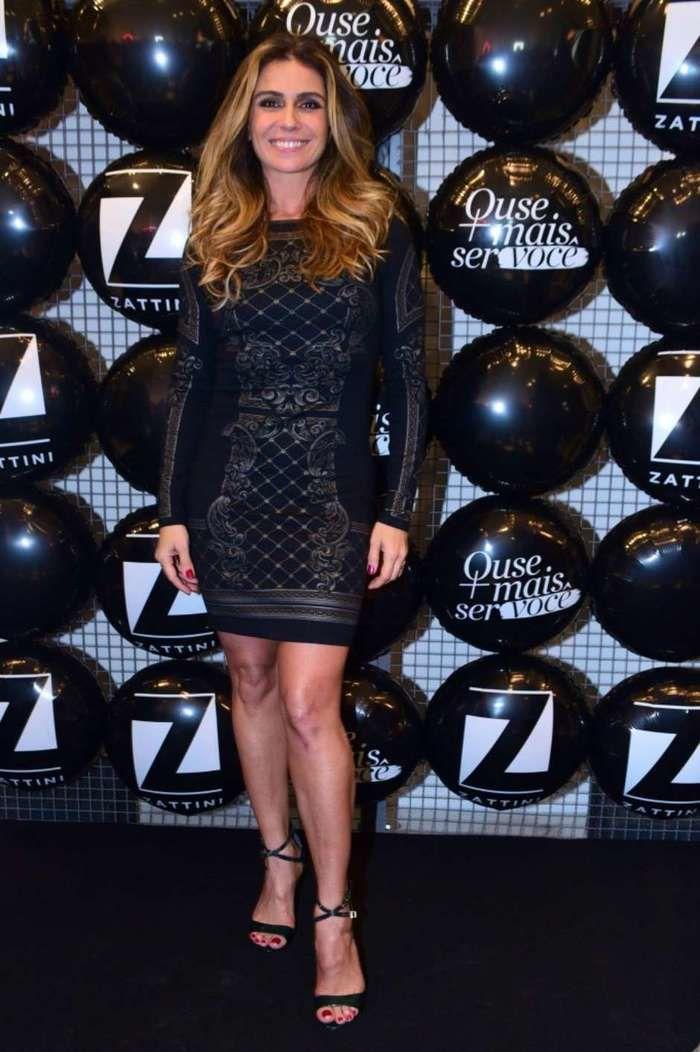 Peças muito justas, mesmo em comprimentos normais, como o vestido da atriz Giovanna Antonelli, não são a melhor opção para um look de trabalho