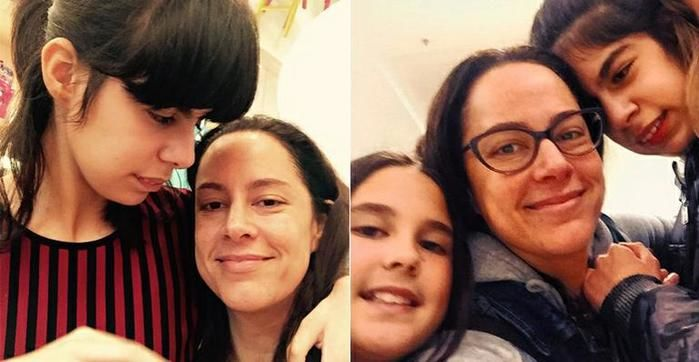 Silvia Abravanel e suas filhas