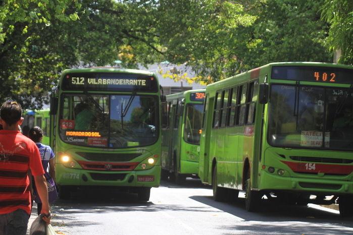 Frota de ônibus está reduzida na capital (Crédito: Reprodução)