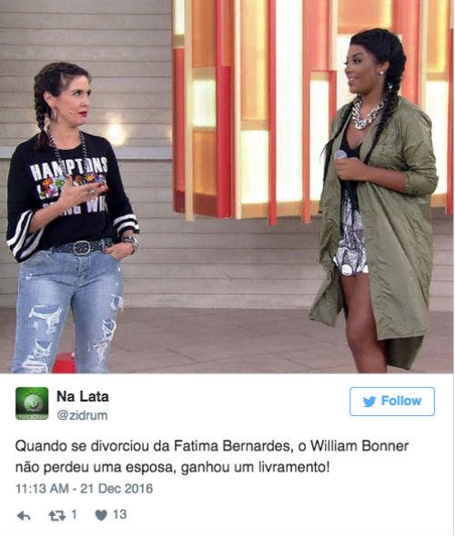 Memes de Fátima Bernardes na internet