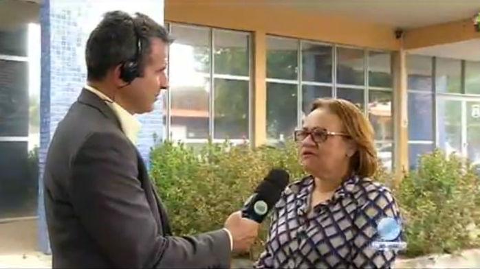 Conselheira tutelar Socorro Arraes, durante entrevista ao vivo no Agora (Crédito: Rede Meio Norte)
