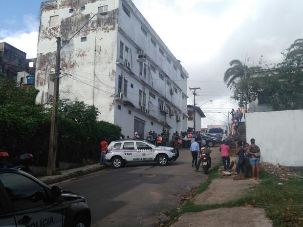 Local onde ocorreu o crime (Crédito: João Ricardo/G1)