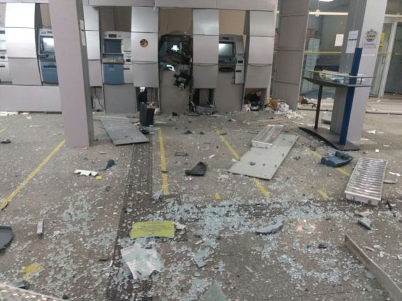 Bando armado explode agência do Banco do Brasil de Luís Correia
