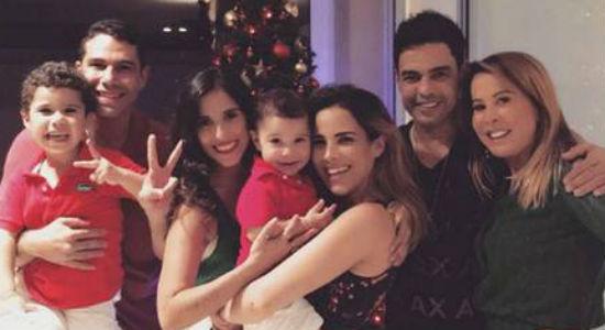 Zilu passa Natal com as filhas e Zezé com Graciele pela 1ª vez