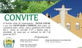 Convite para a Posse do Prefeito, vice e Vereadores eleitos
