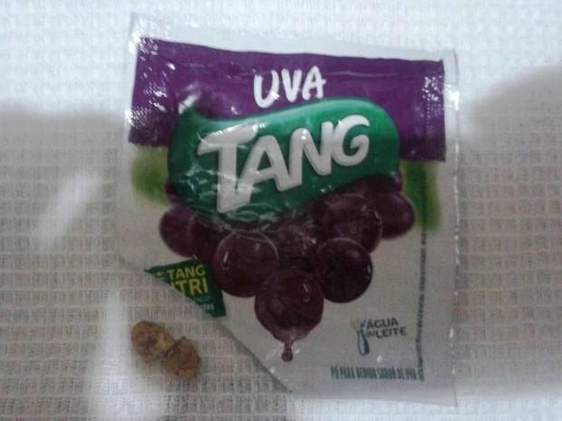 Comprimido foi encontrado em copo em Cubatão (SP) (Crédito: Reprodução)