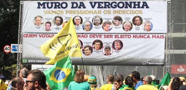 Manifestação em apoio ao juiz Sergio Moro e a operação Lava Jato na Avenida Paulista, em São Paulo, em novembro (Crédito: Reprodução)