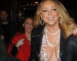 Mariah Carey sai sem calcinha e é traída por vestido