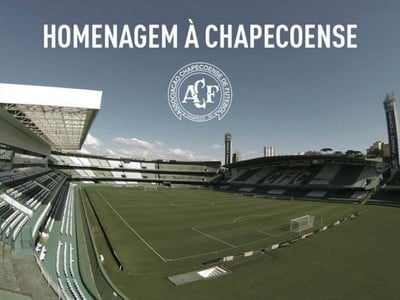 GloboEsporte.com transmite ao vivo a homenagem à Chapecoense no Couto