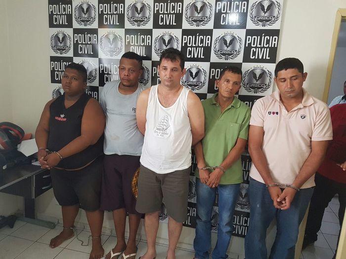 Acusados do crime contra policial (Crédito: Polícia Civil)