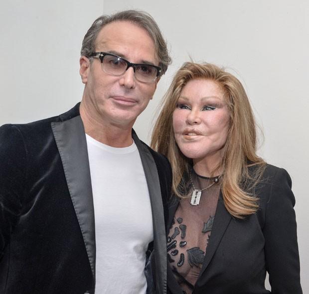 Lloyd Klein ao lado de Jocelyn Wildenstein