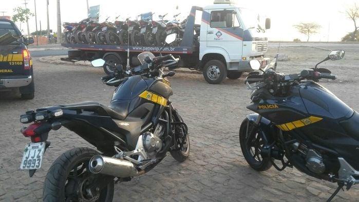 Foram retidas 67 motocicletas em Teresina