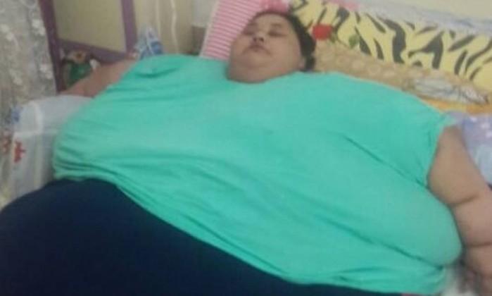 Mulher pesa cerca de 500 kg