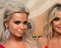 Veridiana Freitas e Sheila Mello chamam atenção com looks decotados