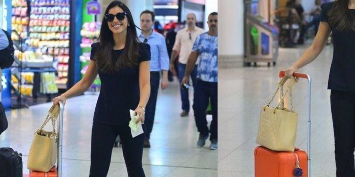 Mariana Rios embarca com look avaliado em mais de R$ 44 mil