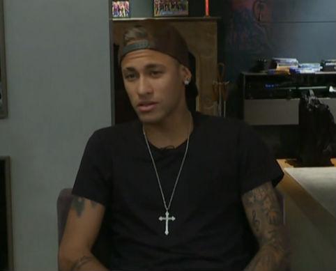 Neymar durante entrevista (Crédito: Reprodução)