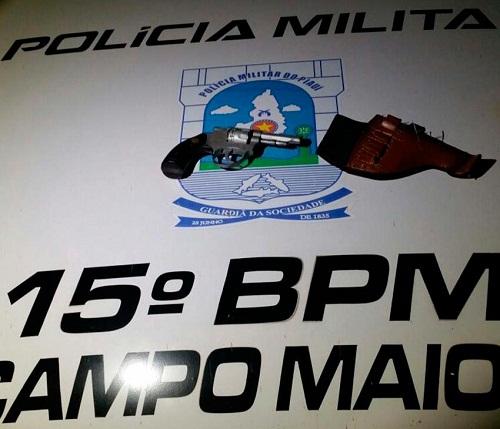 Arma apreendida com Lino José da Silva