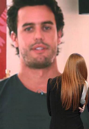 Marina se emociona com declaração do namorado (Crédito: Reprodução)