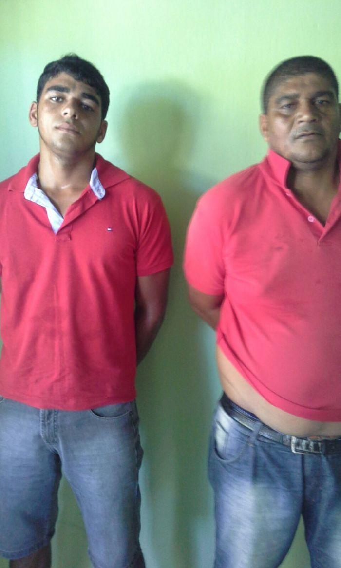 Pai e filho são presos acusados de furto em São Braz do Piauí (Crédito: Divulgação)