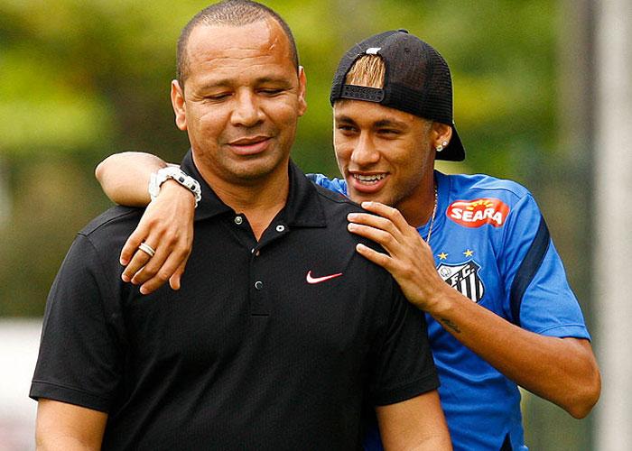 Neymar e seu pai  (Crédito: Divulgação)