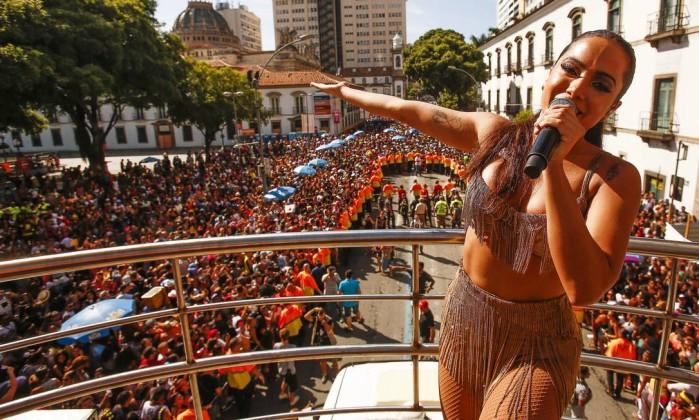 Anitta arrastou uma multidão no Rio de Janeiro (Crédito: Reprodução)