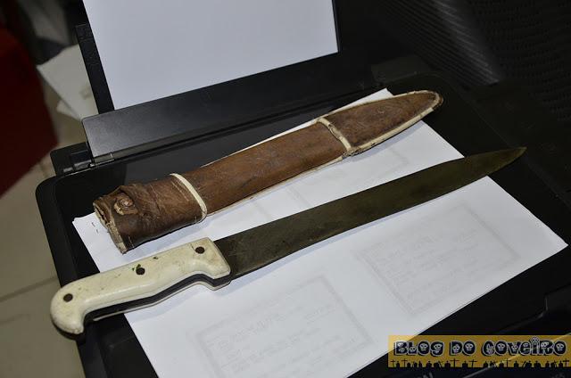 Arma branca usada no crime (Crédito: Reprodução)