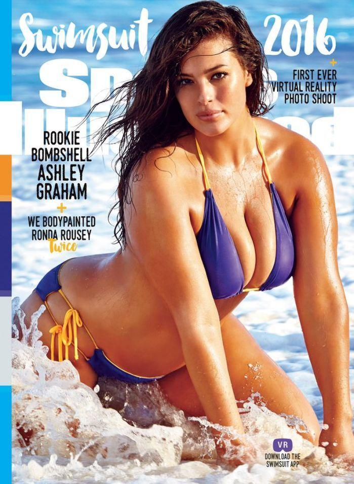 primeira modelo plus size na capa da revista (Crédito: Reprodução)