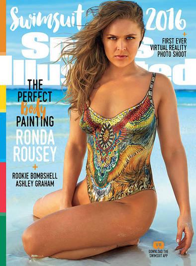 Uma das opções de capa é Ronda Rousey (Crédito: Reprodução)