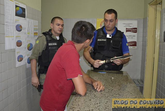 Acusado se apresentou à polícia (Crédito: Reprodução)