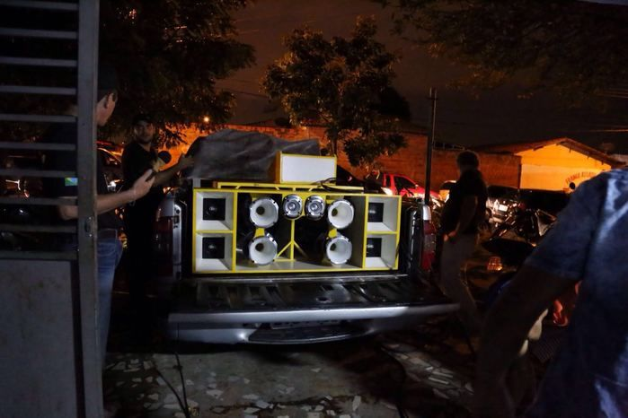Polícia realiza operação na madrugada (Crédito: Reprodução)