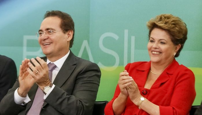 Dilma Rousseff e Renan Calheiros (Crédito: Reprodução)